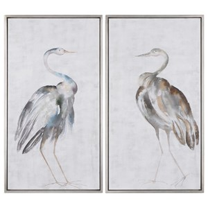 Summer Birds Framed Art Set of 2