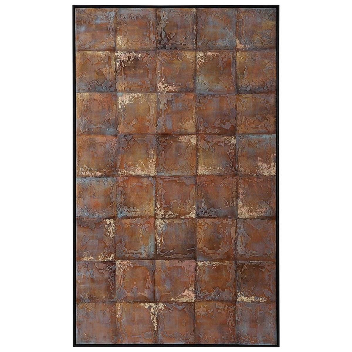 Metallic Tiles Hand Painted Canvas