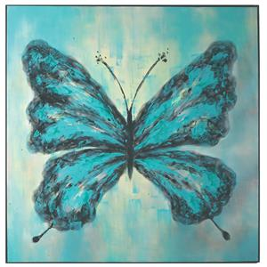 Uttermost Art Butterfly On Display Hand Painted Art