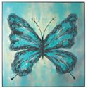 Uttermost Art Butterfly On Display Hand Painted Art - Item Number: 36103
