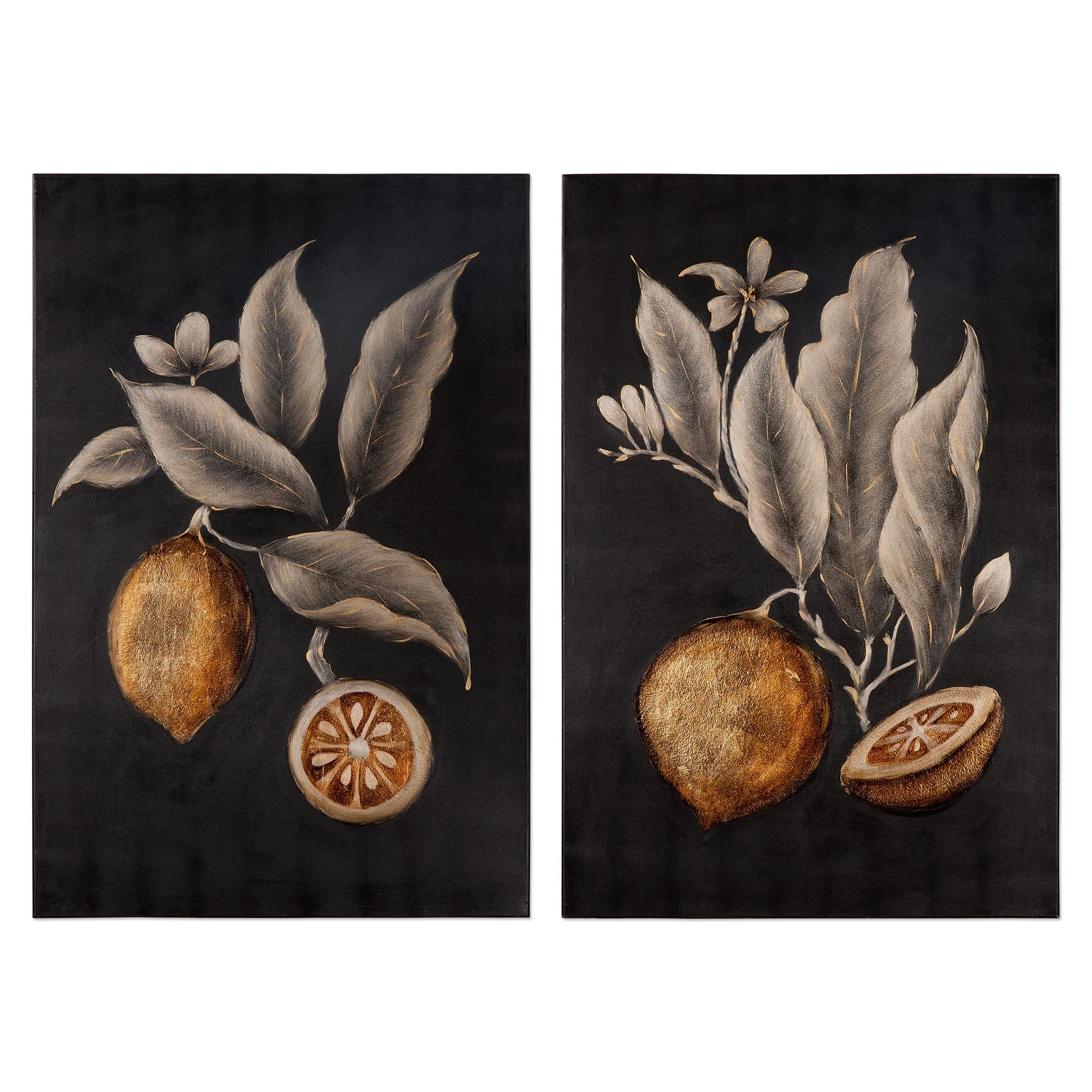 Uttermost Art Citrus Study Hand Painted Art, S/2 - Item Number: 36109