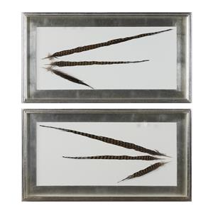 Uttermost Art Pheasant Feathers Wall Art S/2