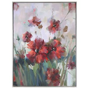 Uttermost Art Blooming Red Floral Art
