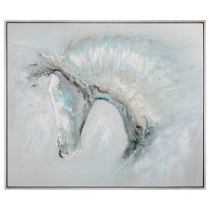 Uttermost Art Ice Illusion Horse Art
