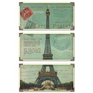 Uttermost Art Eiffel Tower Carte Postale Set of 3