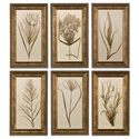 Uttermost Art Wheat Grass Set of 6 - Item Number: 41151