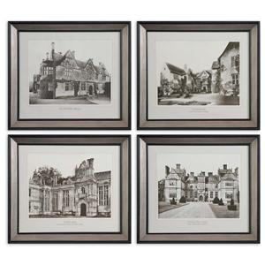Uttermost Art English Cottage Set of 4