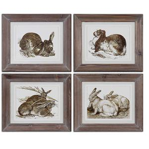 Uttermost Art Regal Rabbits Framed Art