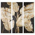 Uttermost Art Golden Palms Floral Art, S/3 - Item Number: 41421