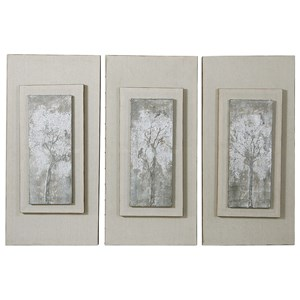 Triptych Trees Hand Painted Art (Set of 3)