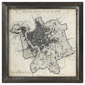 Uttermost Art City Plan of Rome Print Map