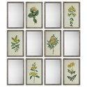 Uttermost Art Diamond Florals And Mirrors (Set of 12) - Item Number: 41499