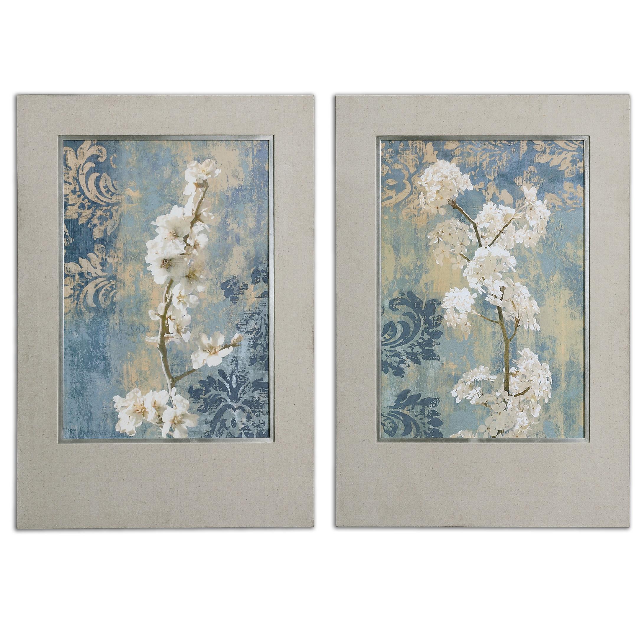 Uttermost Art Blossoms Framed Art Set of 2 - Item Number: 41511