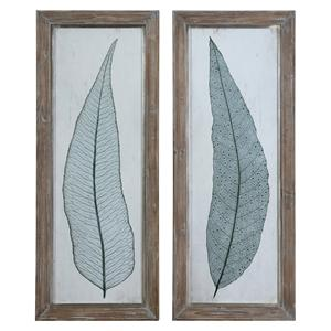 Tall Leaves Framed Art Set of 2