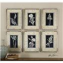 Uttermost Art Glowing Florals Framed Art, Set of 6