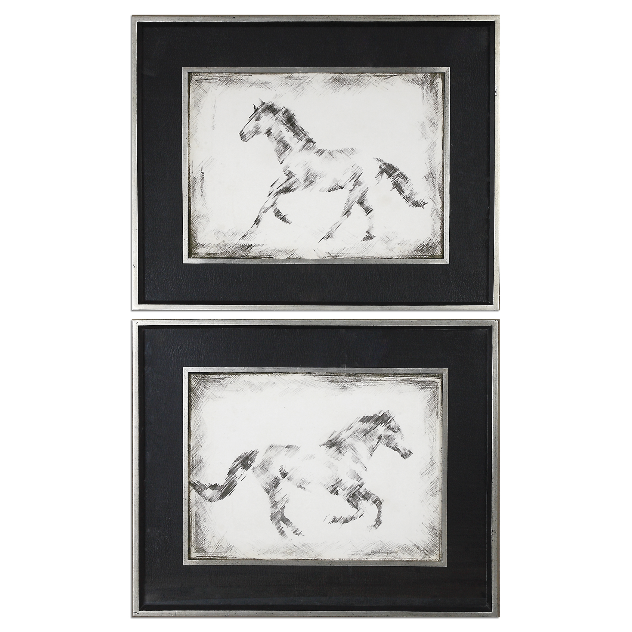 Uttermost Art Equine Study Prints S/2 - Item Number: 41547