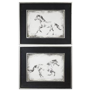 Uttermost Art Equine Study Prints S/2