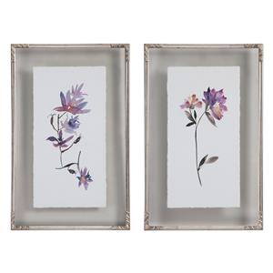 Uttermost Art Floral Watercolors Art, S/2
