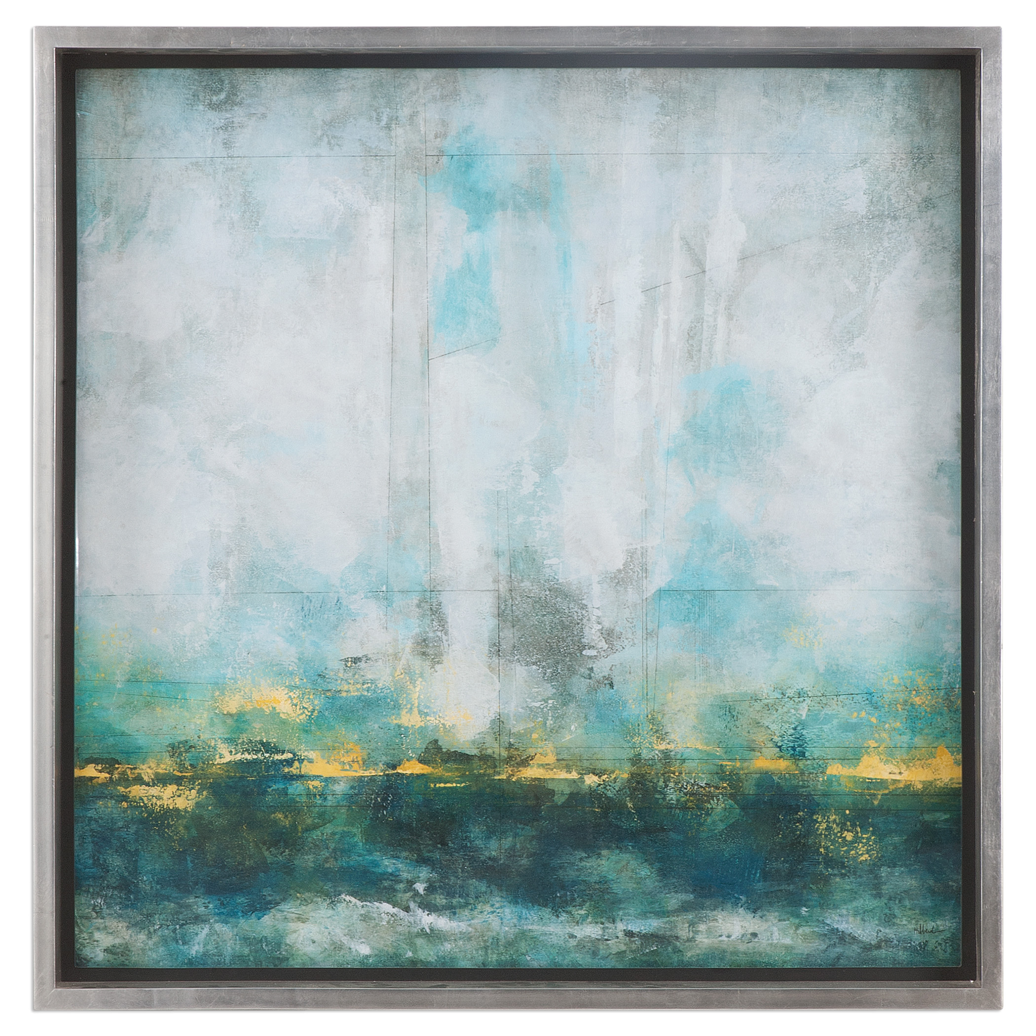 Uttermost Art Aqua Blue Abstract Art - Item Number: 41553