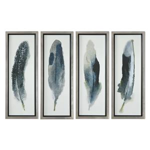 Uttermost Art Feathered Beauty Prints, S/4