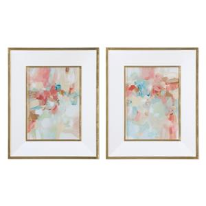 A Touch Of Blush And Rosewood Fences Art, S/