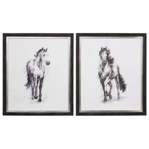 Uttermost Art Dynamic Equestrian (Set of 2)