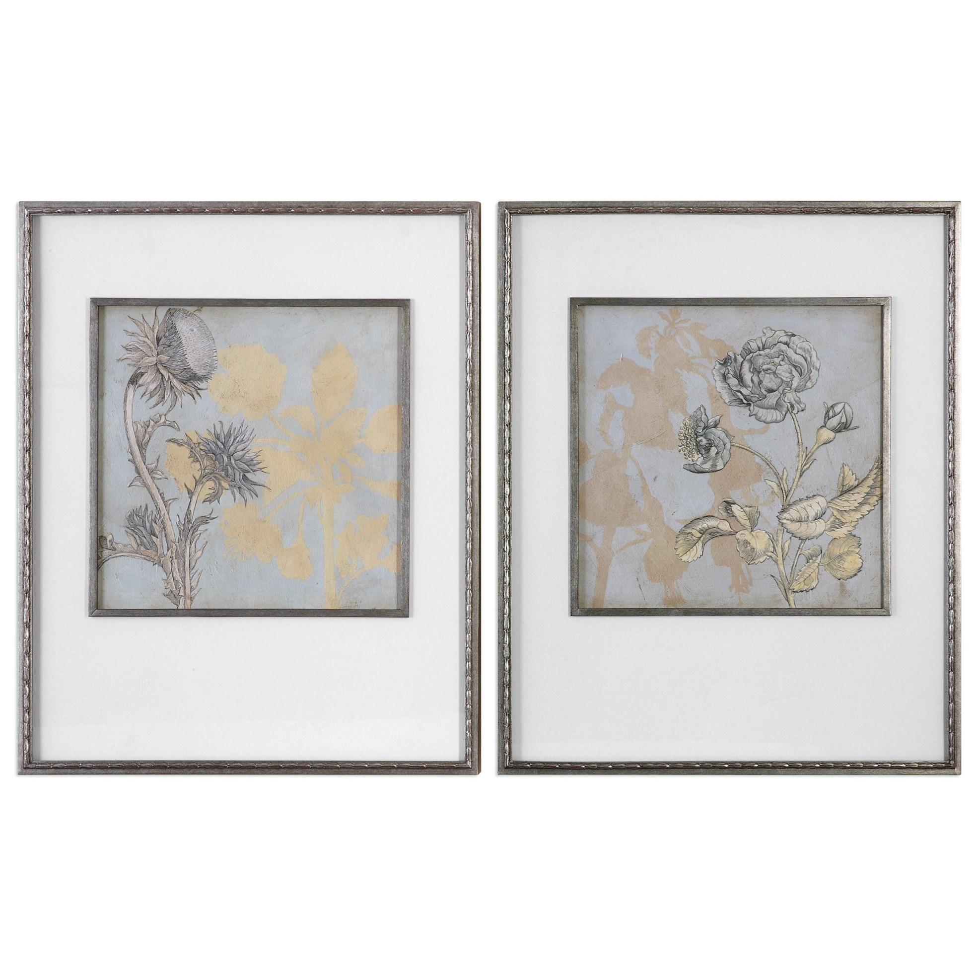 Uttermost Art Shadow Florals (Set of 2) - Item Number: 41562