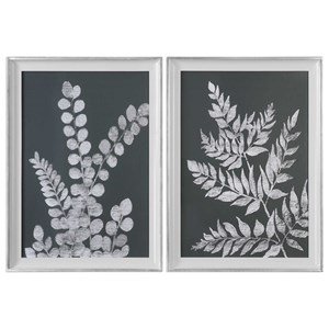 Uttermost Art White Ferns Prints (Set of 2)
