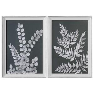 Uttermost Art White Ferns Prints (Set of 2)