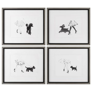 Uttermost Art Perfect Companions Canine Prints (Set of 4)