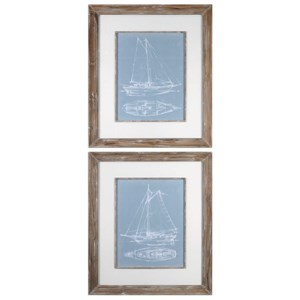 Uttermost Art Yacht Sketches (Set of 2)