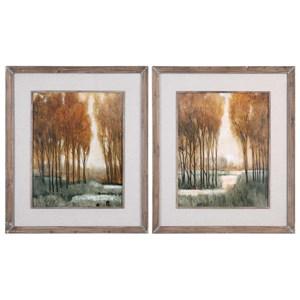 Uttermost Art Custom Golden Forest Landscape Prints (Set o