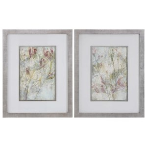 Uttermost Art Flower Dreams Pastel Prints Set of 2