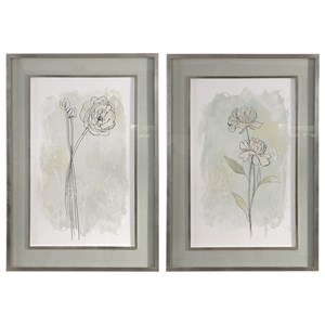 Uttermost Art Stone Flower Study Prints