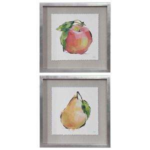 Designer Fruits Framed Prints, Set/2
