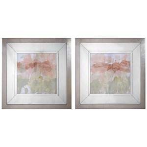 Dusty Blush & Olive Framed Prints, Set/2