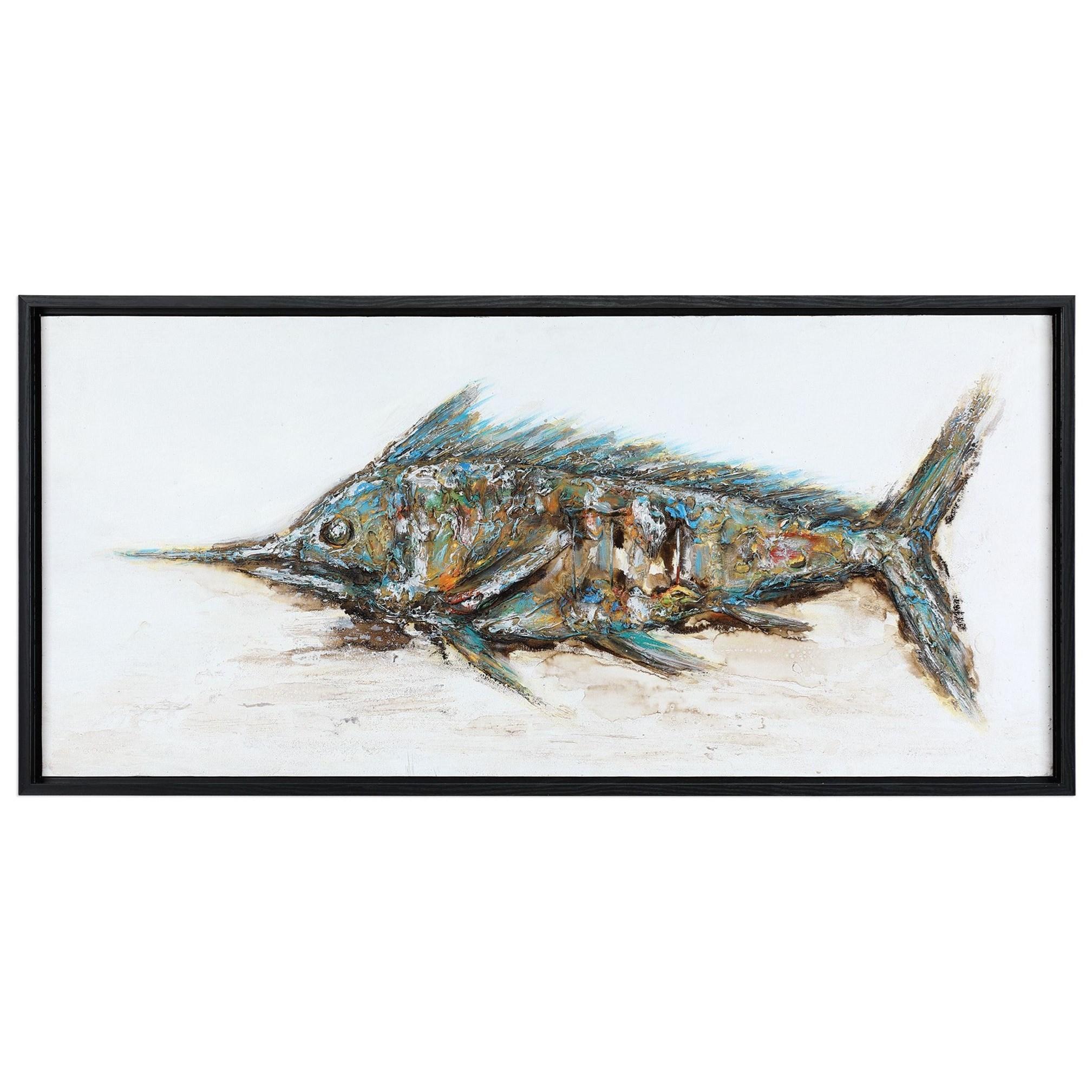 Blue Marlin Hand Painted Art