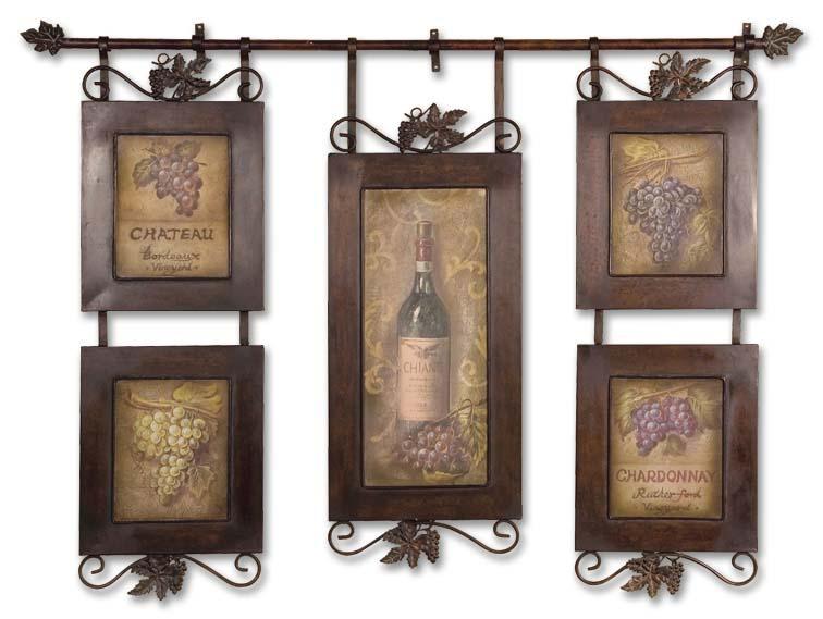 Uttermost Art Hanging Wine - Item Number: 50791