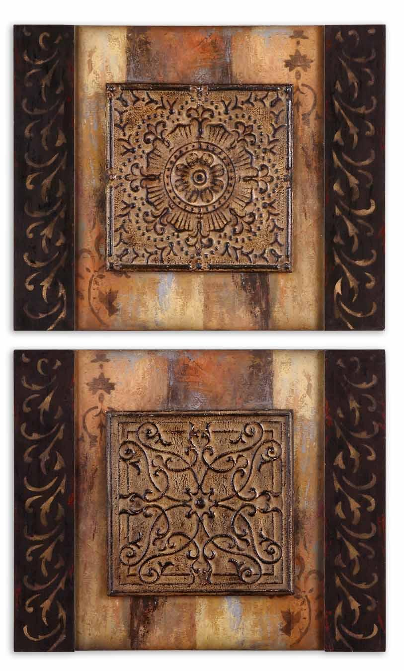 Uttermost Art Ornamentational Block Set of 2 - Item Number: 51054