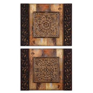 Uttermost Art Ornamentational Block Set of 2