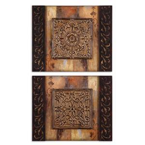 Uttermost Art Ornamentational Block Set of 2
