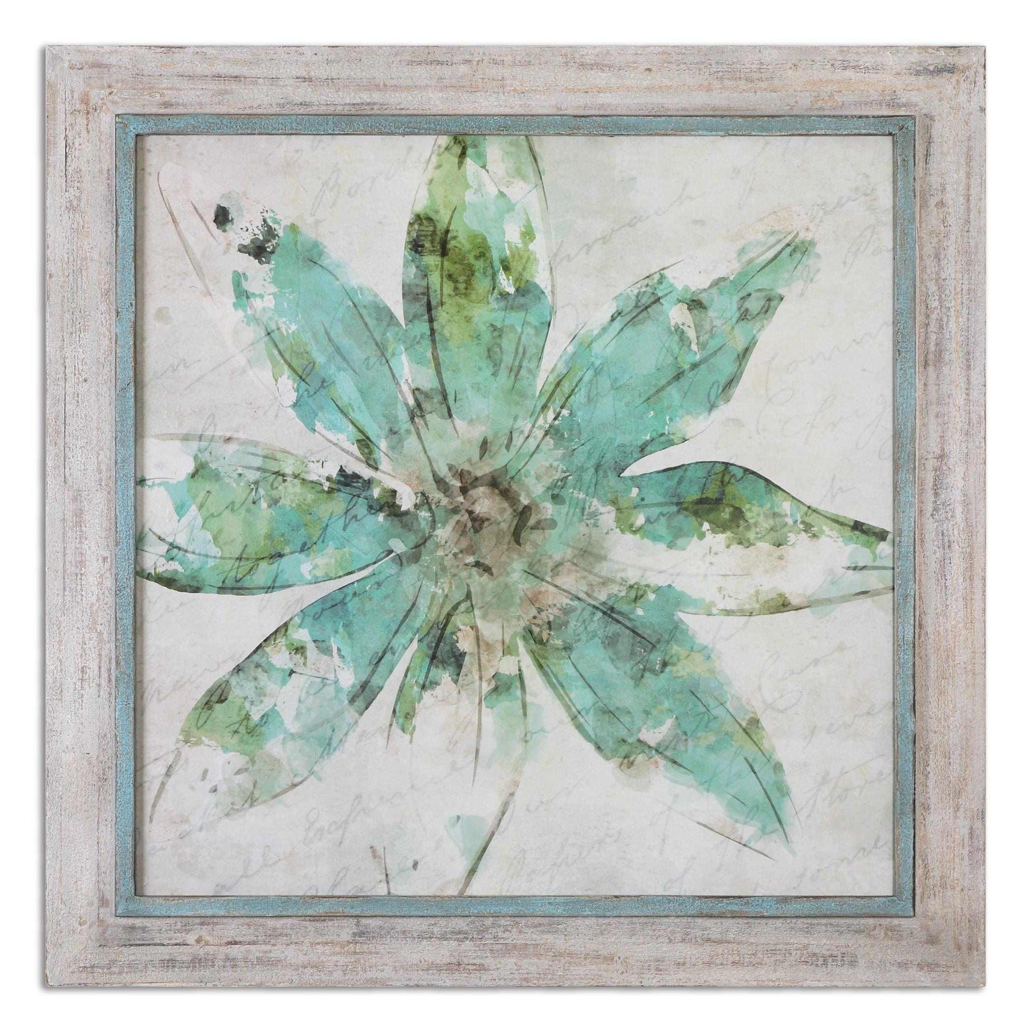 Uttermost Art Pinwheel Floral Art - Item Number: 51101