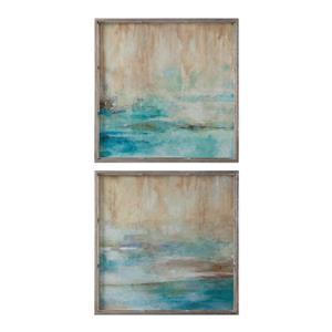Uttermost Art Through The Mist Abstract Art, S/2