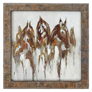 Uttermost Art Equestrian In Browns And Golds Abstract Art