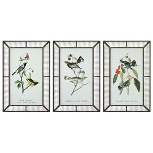 Uttermost Art Warblers (Set of 3)