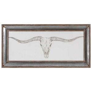 Uttermost Art Western Skull Mount Print