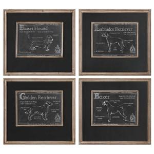 Uttermost Art Canis Lupus Familiaris Prints Set of 4