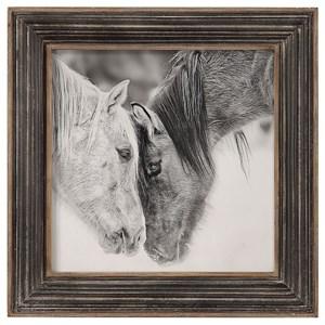 Uttermost Art Custom Black And White Horses Print