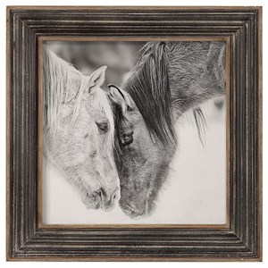 Custom Black And White Horses Print