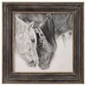 Uttermost Framed Prints Custom Black And White Horses Print - Item Number: 51110